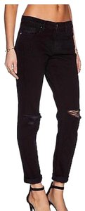 J Brand Distressed Slim Boyfriend Cut Jeans-Dark Rinse
