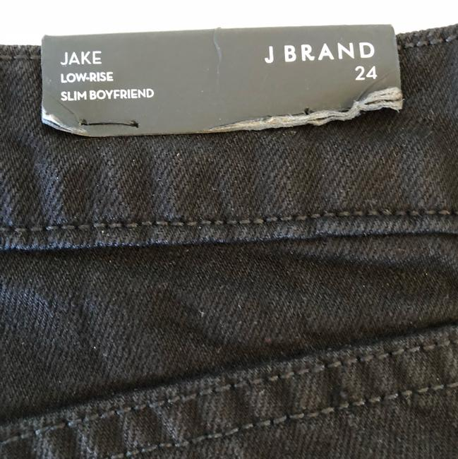 J Brand Distressed Slim Boyfriend Cut Jeans-Dark Rinse Image 11
