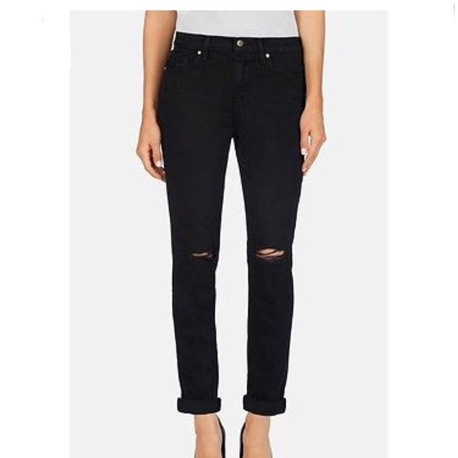 J Brand Distressed Slim Boyfriend Cut Jeans-Dark Rinse Image 4