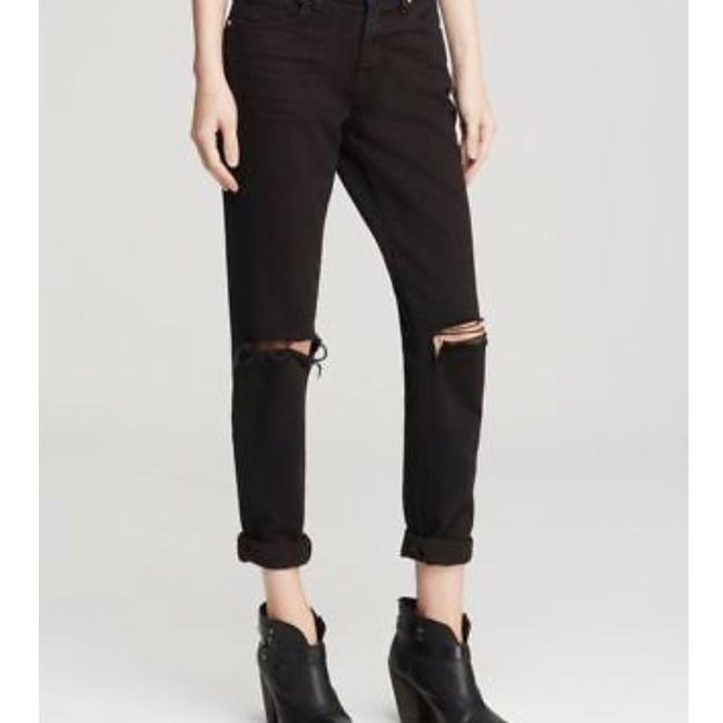 J Brand Distressed Slim Boyfriend Cut Jeans-Dark Rinse Image 6