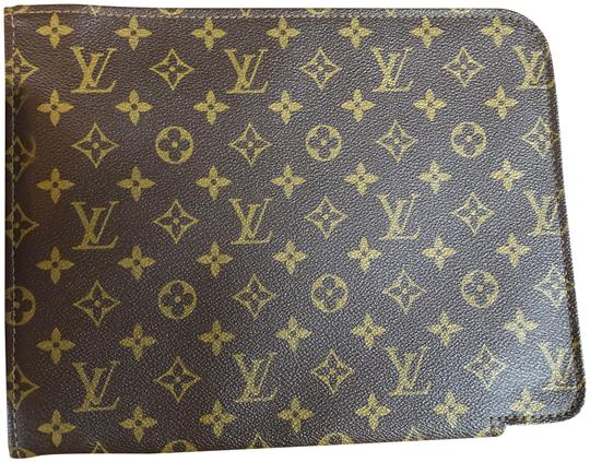 Louis Vuitton Case Lv Document Case Poche Wallet Brown Monogram Travel Bag Image 0