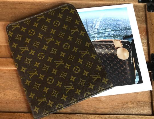 Louis Vuitton Case Lv Document Case Poche Wallet Brown Monogram Travel Bag Image 1