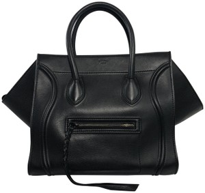 Céline Phantom Phantom Medium Luggage Travel Satchel in Black