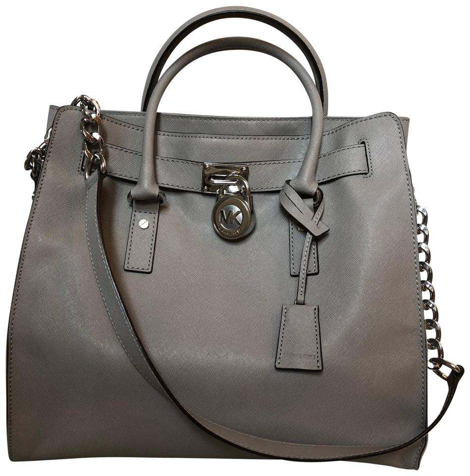 fc51b3370fc9 Michael Kors Large Hamptons Grey Saffiano Leather Tote - Tradesy