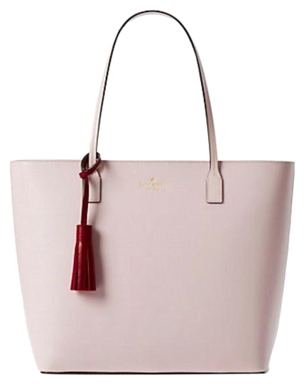 Preload https://img-static.tradesy.com/item/24044231/kate-spade-wright-place-karla-tassel-pink-leather-tote-0-1-540-540.jpg