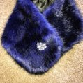 Royal Blue Faux Muffs and Embellished Scarf/Wrap Royal Blue Faux Muffs and Embellished Scarf/Wrap Image 2