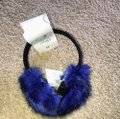 Royal Blue Faux Muffs and Embellished Scarf/Wrap Royal Blue Faux Muffs and Embellished Scarf/Wrap Image 3