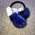 Royal Blue Faux Muffs and Embellished Scarf/Wrap Royal Blue Faux Muffs and Embellished Scarf/Wrap Image 5