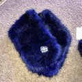 Royal Blue Faux Muffs and Embellished Scarf/Wrap Royal Blue Faux Muffs and Embellished Scarf/Wrap Image 7