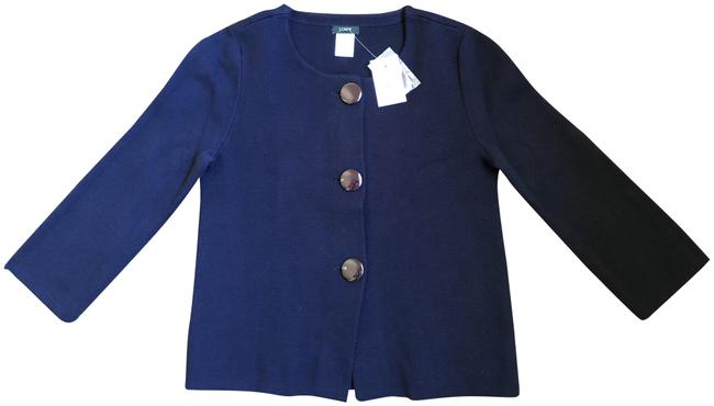 Preload https://img-static.tradesy.com/item/24044270/jcrew-navy-kelly-button-front-jacket-cardigan-size-2-xs-0-1-650-650.jpg
