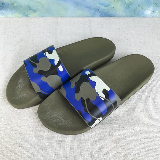 Valentino Camouflage Blue Sandals Image 1