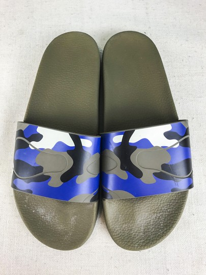 Valentino Camouflage Blue Sandals Image 3
