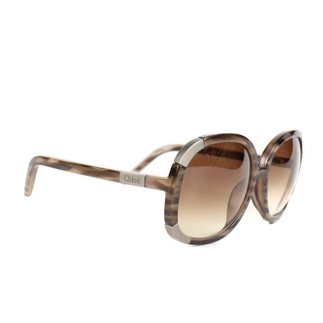 Item - Taupe / Brown / Silver Round Oversize Sunglasses