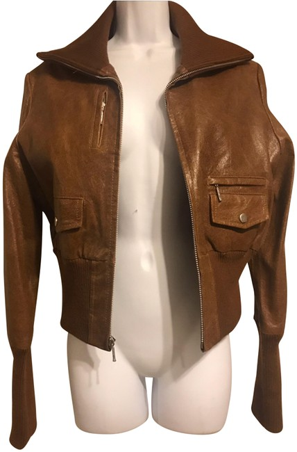 XOXO Rust Brown Color Genuine Real Jacket Size 8 (M) XOXO Rust Brown Color Genuine Real Jacket Size 8 (M) Image 1