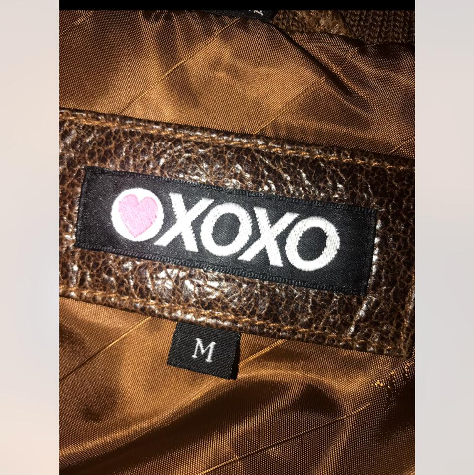 a2ceab09db XOXO Rust Brown Color Genuine Real Jacket Size 8 (M) - Tradesy