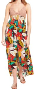 Multi Maxi Dress by ASTR V-neck Ties In Back Unlined Cups Lined Skirt Great Viscose Fabric