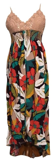 Multi Maxi Dress by ASTR V-neck Ties In Back Unlined Cups Lined Skirt Great Viscose Fabric Image 1
