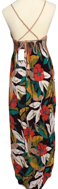 Multi Maxi Dress by ASTR V-neck Ties In Back Unlined Cups Lined Skirt Great Viscose Fabric Image 2