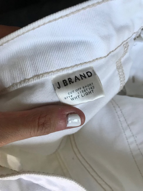 J Brand Cut Off Shorts White Light Image 10