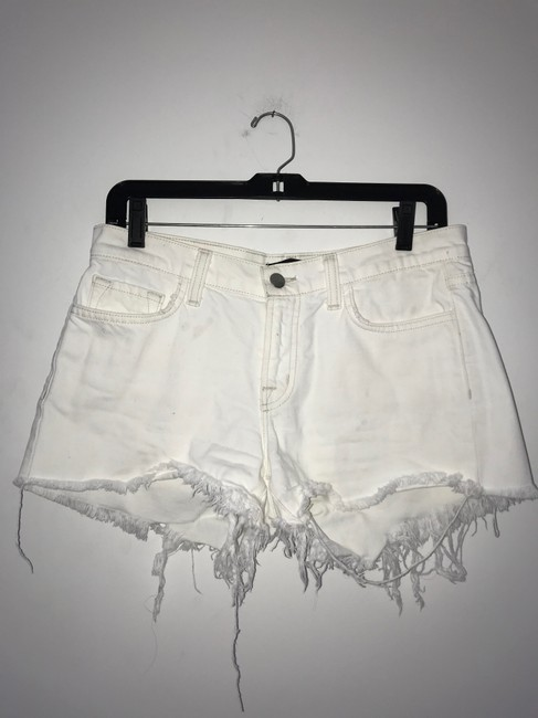 J Brand Cut Off Shorts White Light Image 4