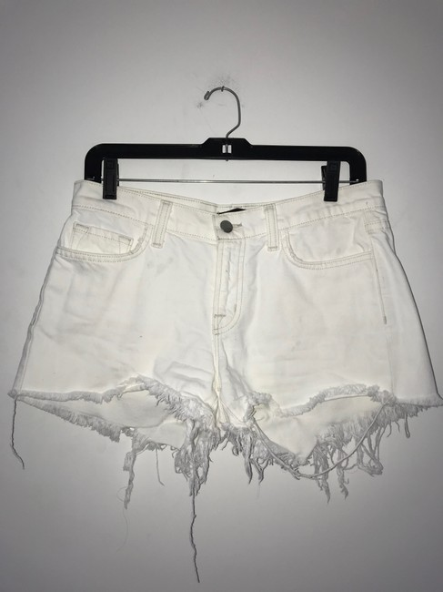 J Brand Cut Off Shorts White Light Image 5