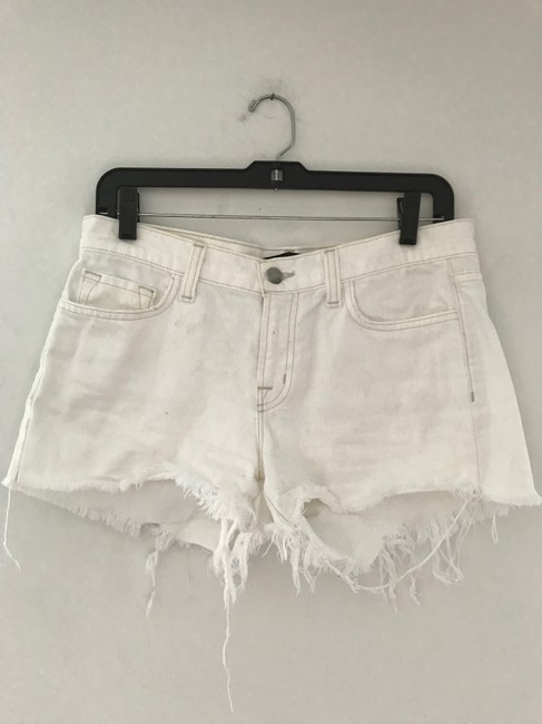 J Brand Cut Off Shorts White Light Image 6