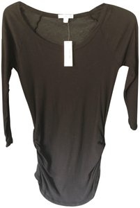 James Perse Side Tucked T T Shirt Black