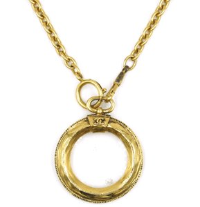 Chanel Rare CC Magnifying Glass Long gold chain necklace