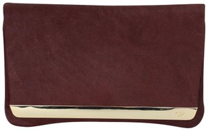 Anne Fontaine Burgundy Clutch