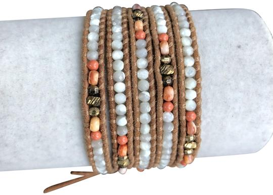Preload https://img-static.tradesy.com/item/24045142/chan-luu-mother-of-pearl-new-and-salmon-mix-five-wrap-leather-b-bracelet-0-1-540-540.jpg