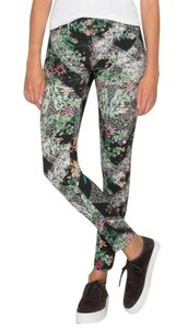 Johnny Was Super Soft Modal Mixed Print Elastic Waist Topstiching Super Versatile Multi Leggings