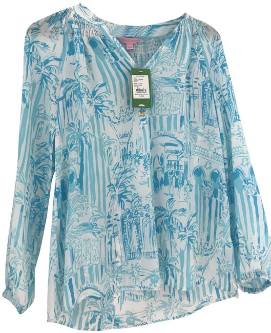 Preload https://img-static.tradesy.com/item/24045164/lilly-pulitzer-bluewhite-la-via-loca-blouse-size-4-s-0-1-650-650.jpg