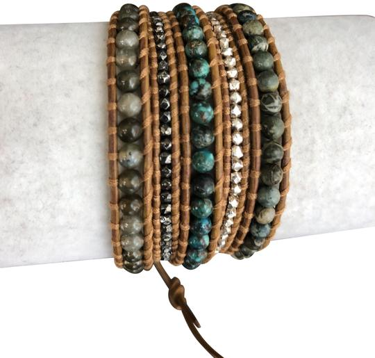 Preload https://img-static.tradesy.com/item/24045324/chan-luu-african-turquoise-new-mix-five-wrap-tan-leather-bracelet-0-1-540-540.jpg