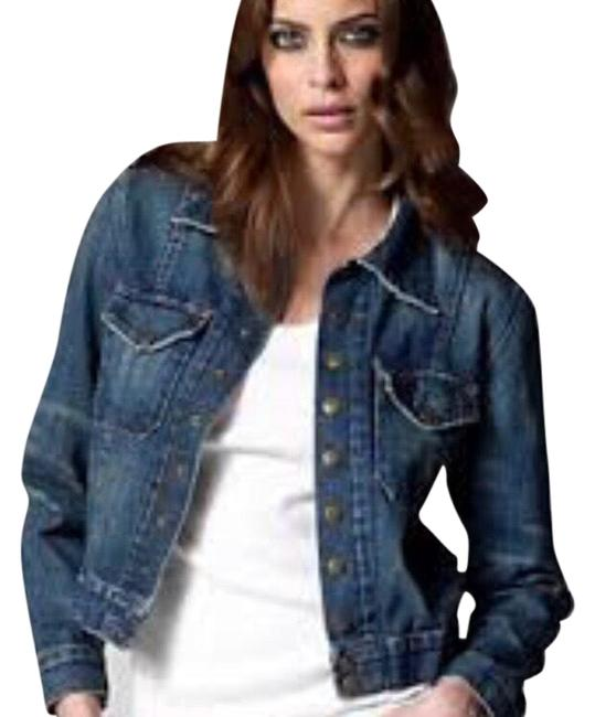 Item - Denim The Snap In Barn Dark Jacket Size 8 (M)