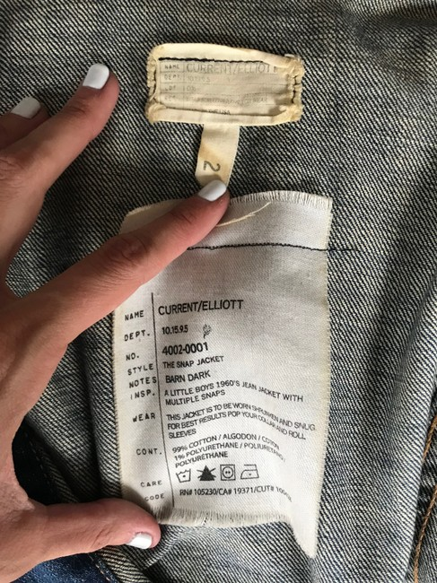 Current/Elliott Denim Womens Jean Jacket Image 10