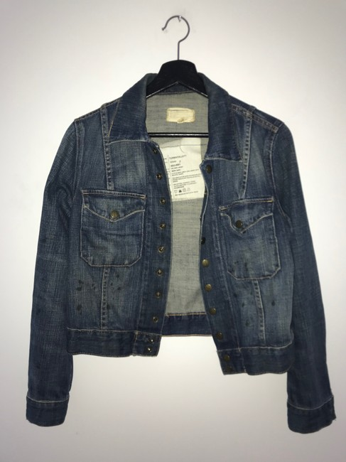 Current/Elliott Denim Womens Jean Jacket Image 8