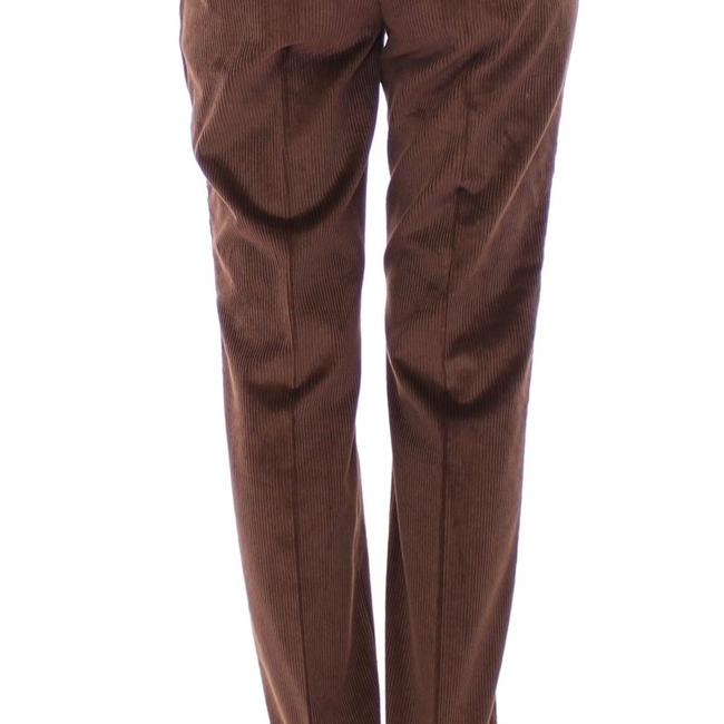 Dolce&Gabbana D11601-5 Women's Corduroys Logo Casual Straight Pants Brown Image 2