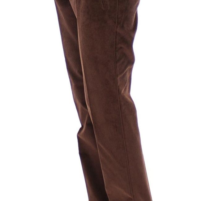 Dolce&Gabbana D11601-5 Women's Corduroys Logo Casual Straight Pants Brown Image 3
