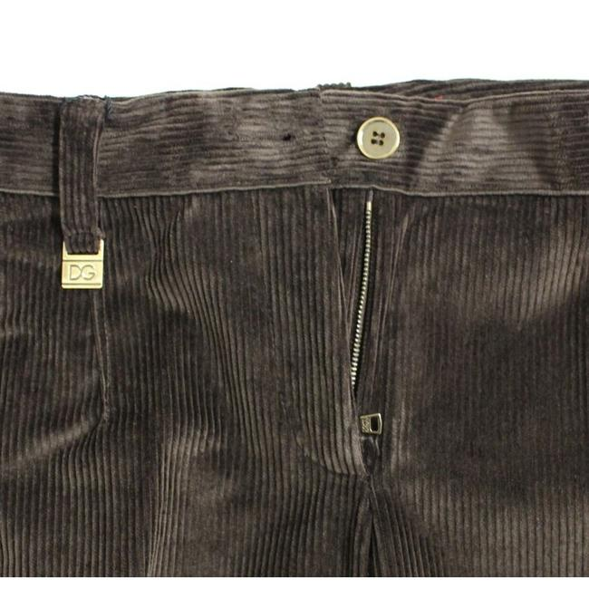 Dolce&Gabbana D11601-5 Women's Corduroys Logo Casual Straight Pants Brown Image 4