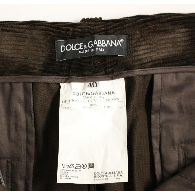 Dolce&Gabbana D11601-5 Women's Corduroys Logo Casual Straight Pants Brown Image 7