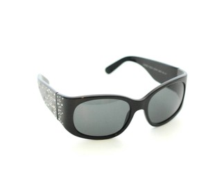 Chanel Chanel Black Sunglasses 5134 Crystal CC Wide Arms 55mm