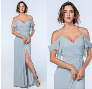 Watters & Watters Bridal French Blue Crinkle Chiffon Poly Lining Aldridge / Style Number 2511 Feminine Bridesmaid/Mob Dress Size 6 (S)