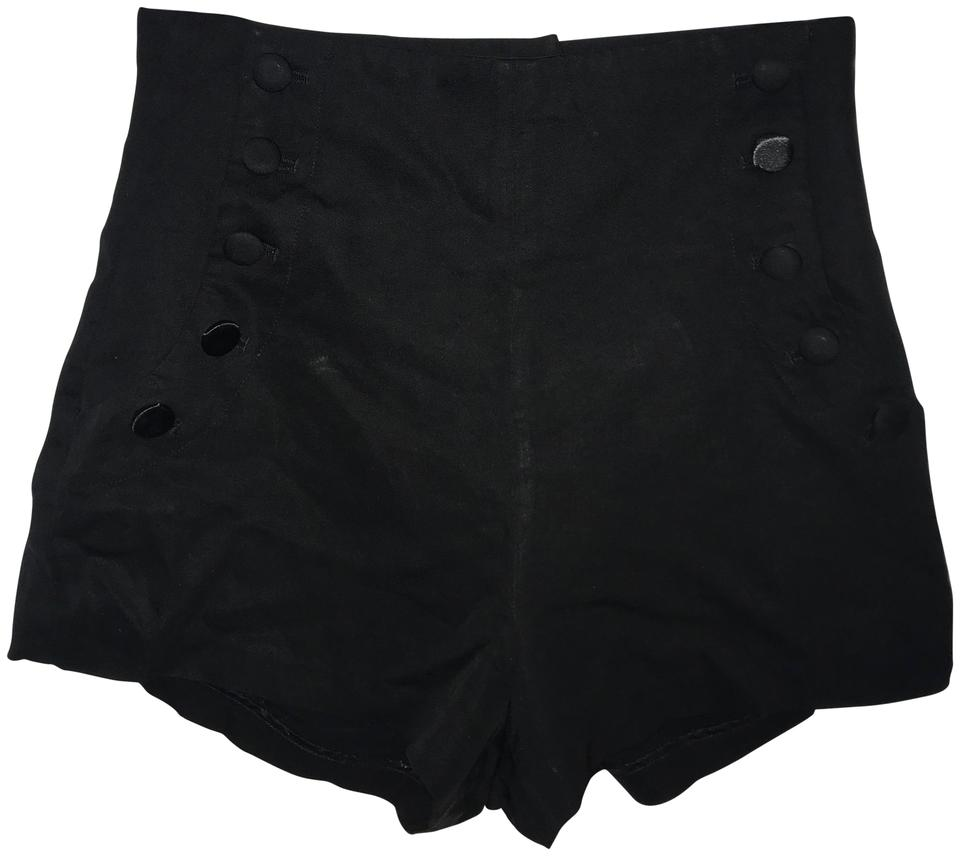 85bbd4a324 Elizabeth and James Black Tuxedo High Waisted Shorts. Size  2 (XS ...