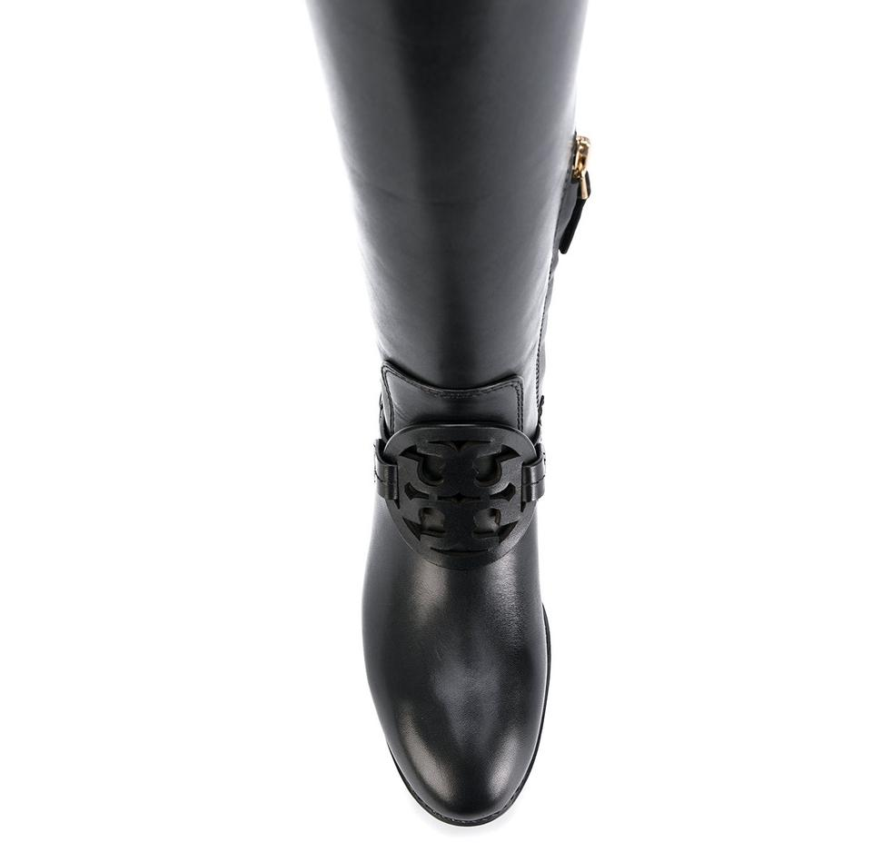 a3f459a6f Tory Burch Black Miller Pull-on Leather Boots Booties Size US 6.5 Regular  (M