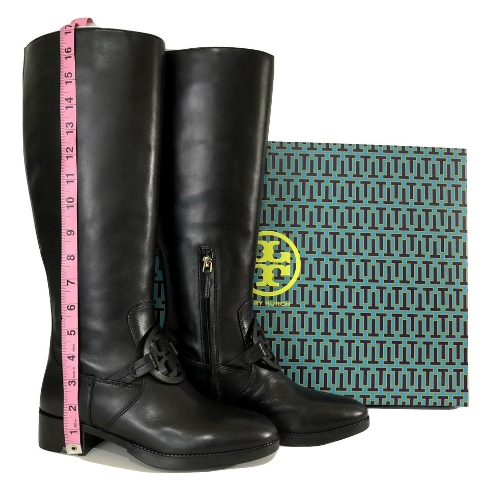 09506dec0 Tory Burch Black Miller Pull-on Leather Boots Booties Size US 6.5 ...