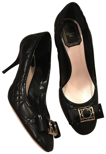 Dior Black Cannage Pumps Size EU 36.5 (Approx. US 6.5) Regular (M, B) Dior Black Cannage Pumps Size EU 36.5 (Approx. US 6.5) Regular (M, B) Image 1