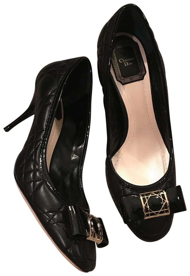 ff2ba14f4c Dior Black Cannage Pumps Size EU 36.5 (Approx. US 6.5) Regular (M, B ...