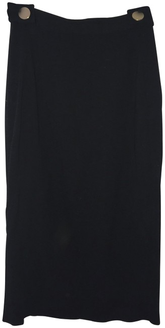 Preload https://img-static.tradesy.com/item/24045724/diane-von-furstenberg-black-high-waisted-gold-knee-length-skirt-size-0-xs-25-0-1-650-650.jpg