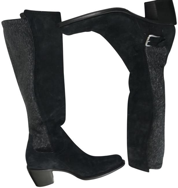 Item - Black Suede Boots/Booties Size US 7.5 Narrow (Aa, N)