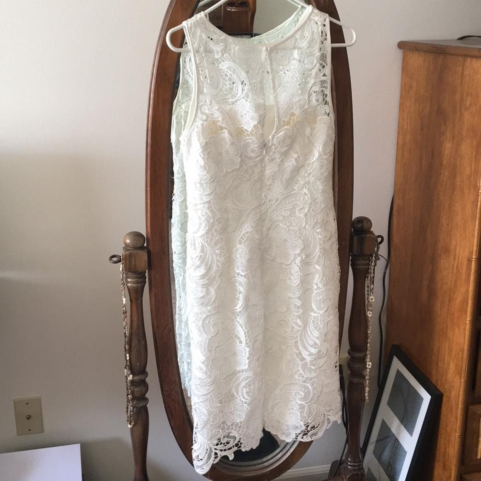 adrianna papell ivorywhite dreamy bridal shower casual maxi dress